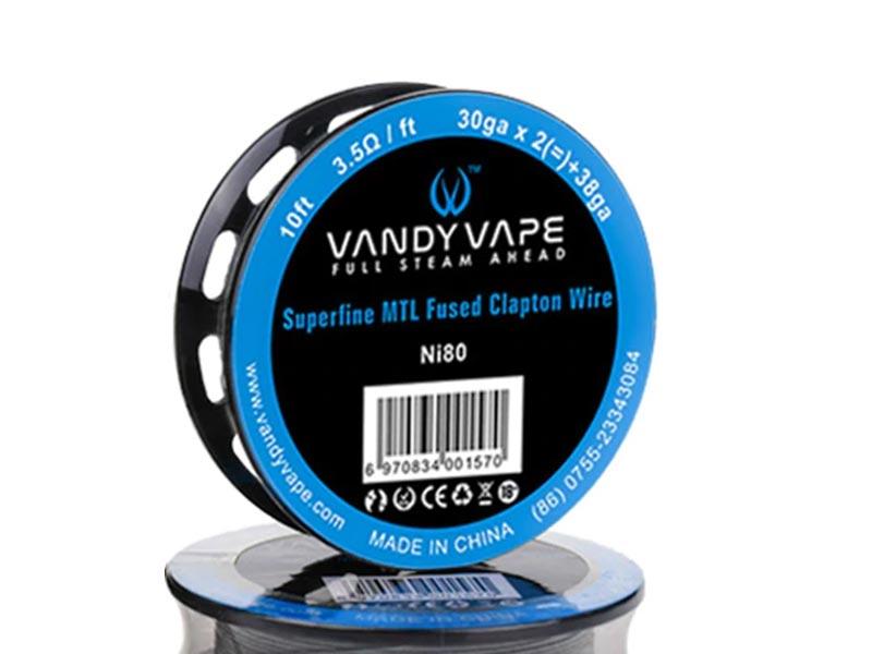Vandyvape Superfine MTL Fused Clapton Wire